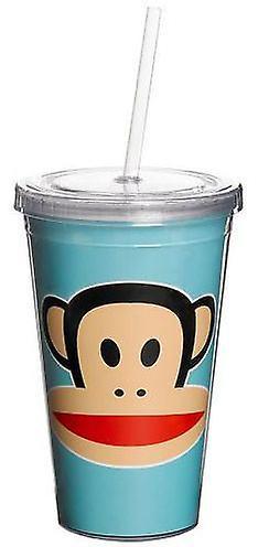 كأس بول فرانك الأزرق مع قصب (المطبخ والأسرة المعيشية، وأكواب والاطباق)