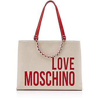 Love Moschino Canvas Multicolor Bolsa de Tote de Mujer (Natural) 15x10x15 cm (An x Al x L)
