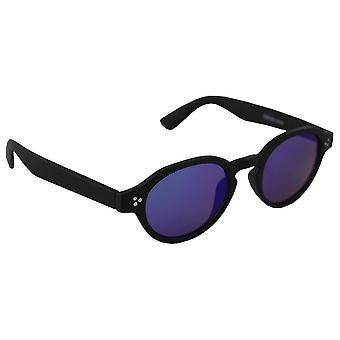 Sunglasses UV 400 oval black multicoloured Blauw2533_6