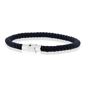 Skipper armband magnetisk stängning arm smycken nylon flätad Navy 8159