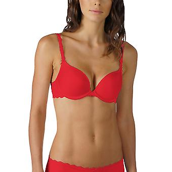 Mey 74812-410 Women's Allegra Ruby Red Solid Colour Padded Underwired Push Up Bra