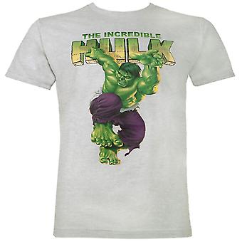The Incredible Hulk Jump Men's Grey T-Shirt