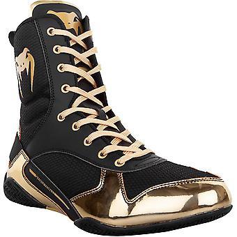 Venum Elite Zapatos de Boxeo Profesional - Negro/Oro