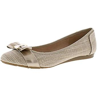 Charter Club Womens Pimmas Fabric Pointed Toe Ballet Flats