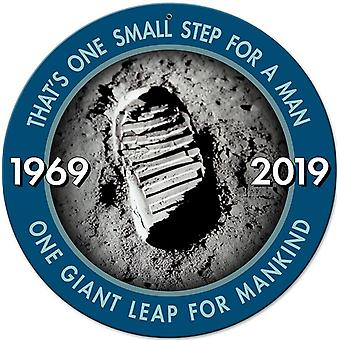 Apollo 11 50th Anniversary 'Bootprint' One Small Step round steel sign 360mm durchmesser (pst)