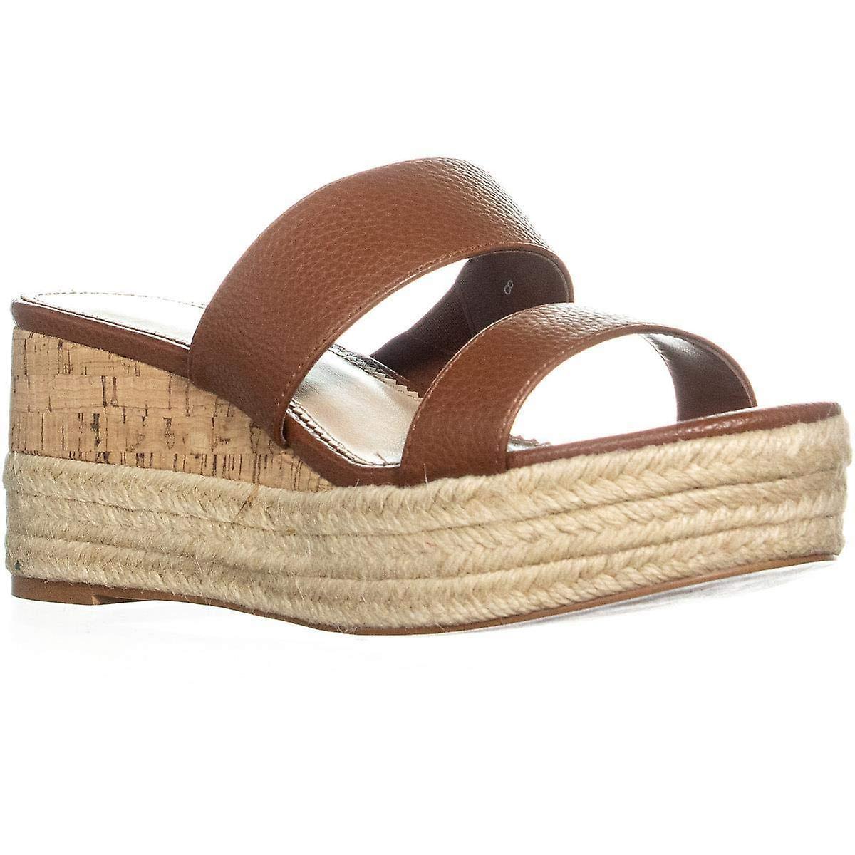 Callisto Womens Foundation Leather Open Toe Casual Slide Sandals