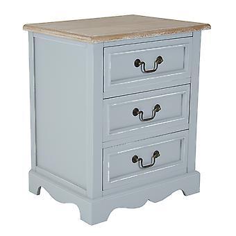 Charles Bentley Grey Loxley Vintage lite drewno 3 szuflady szafka nocna