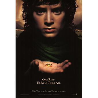 The Lord Of The Rings Fellowship Of The Ring Poster Double Sided Advance (Style A) (2001) Original Cinema Poster