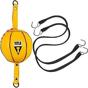Title Boxing Quick Leather Double End Bag Package - Yellow
