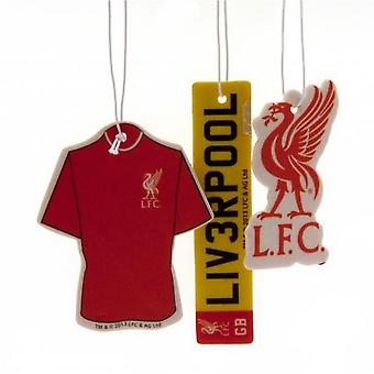 Liverpool FC Air Fresheners (Pack Of 3)
