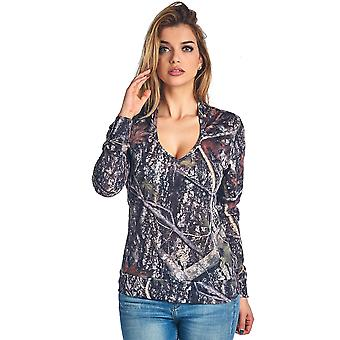 Women's Authentic True Timber Camo Long Sleeve Hooded Shirt