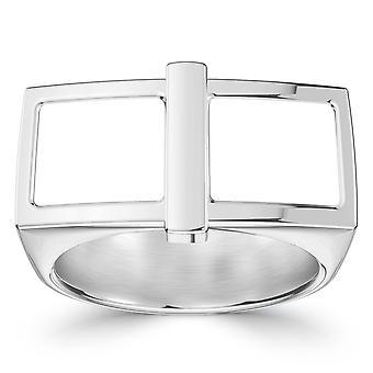 Wit op witte Fashion Ring in Sterling Zilver