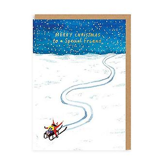oh Deer Sledging Special Friend Christmas Card Oh Deer Sledging Special Friend Christmas Card Oh Deer Sledging Special Friend Christmas Card Oh De