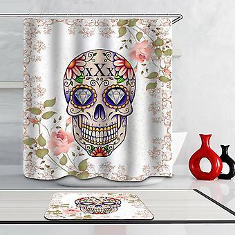 Diamond Eyes Skull Shower Curtain