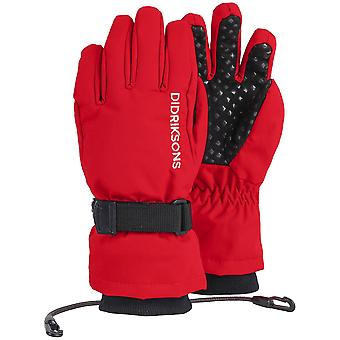 Didriksons Biggles Cinco Niños Guantes impermeables Chili Red
