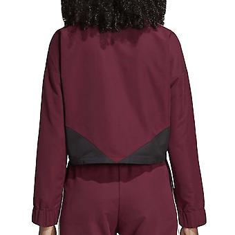 adidas Originals Womens Colorado Regular Fit Cropped Sweatshirt Sweater - Maroon