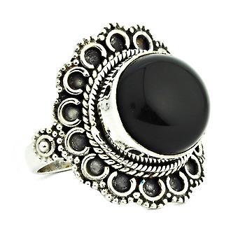 Ring 925 Silber mit Onyx 54 mm / Ø 17.2 mm (KLE-RI-077-03-(54))