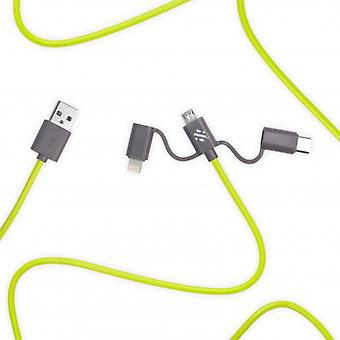 Link - 3-in-1 Cable 1m Green