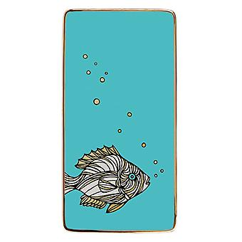 Patch NYC Fish Rectangle Porcelain Tray by Galison