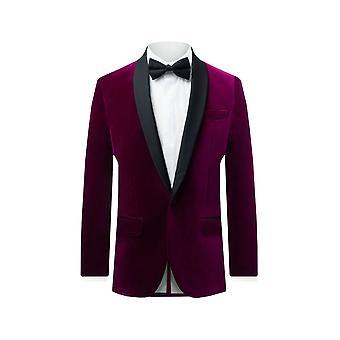 Veste en smoking en velours de velours hollandais et sherry Pour homme Plum Fit 100% Cotton