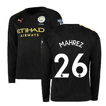 2019-2020 Manchester City Puma Auswärts Langarm Shirt (MAHREZ 26)