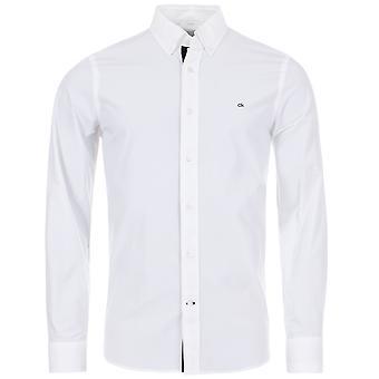 Calvin Klein Slim Fit Contrasto Taglio Camicia