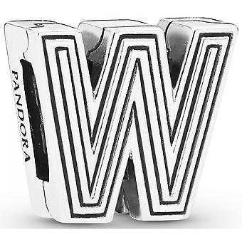Charm Pandora 798219 - Clip-Buchstabe W PANDORA Reflexionen in Silber