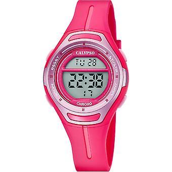 Calypso K5727-5 - klocka kronograf flicka Fushia
