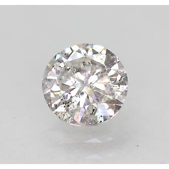 Certified 0.57 Carat F SI2 Round Brilliant Enhanced Natural Loose Diamond 5.4mm