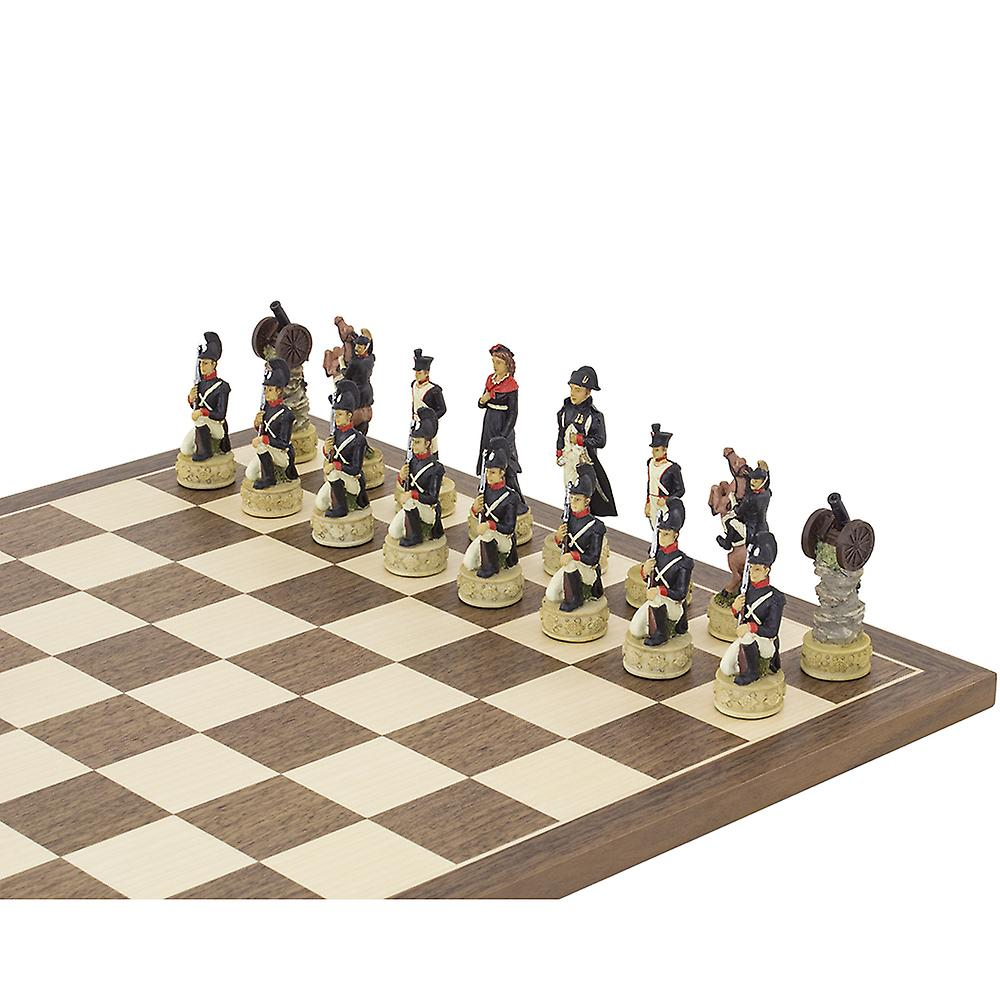 The Napoleon Vs Russians Hand painted themed chess pieces by Italfama