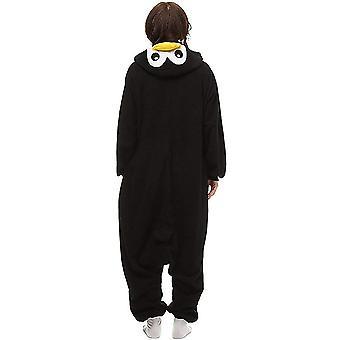 Black Penguin Onesies Girl Adult Halloween Nightwear Unisex Anime Sleepwear C...