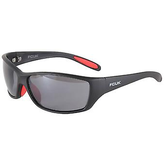 French Connection Rectangle Wrap Sunglasses - Black