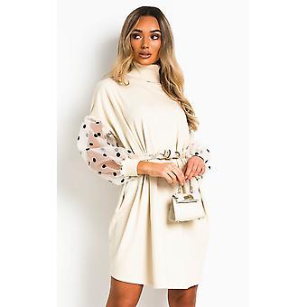 IKRUSH Womens Pennie Polka Dot Sleeve Jumper Dress