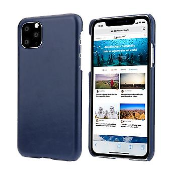 Pour iPhone 11 Pro Case Elegant Genuine Leather Back Shell Protective Cover Blue