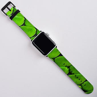 Snake Patterned For Apple Watch Band 38mm in Satin PU Leather