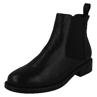 Spot On Womens / Ladies Leather Ankle Boots Spot On Womens / Ladies Leather Ankle Boots