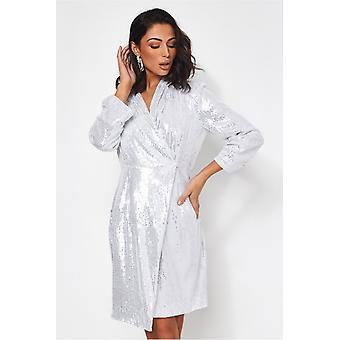 Indie Sequin Blazer Dress