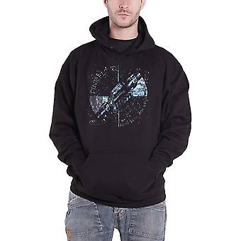 Pink Floyd Hoodie Wish You Were Here Machine Blue Official Mens Black Pullover