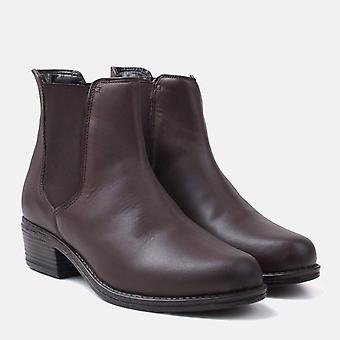 Rosary brown leather chelsea boot