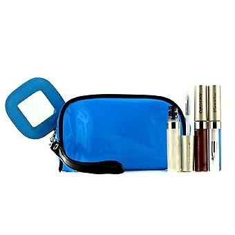 Lip Gloss Set mit blauer Kosmetiktasche (3xMode Gloss, 1xCosmetic Bag) 3pcs + 1bag