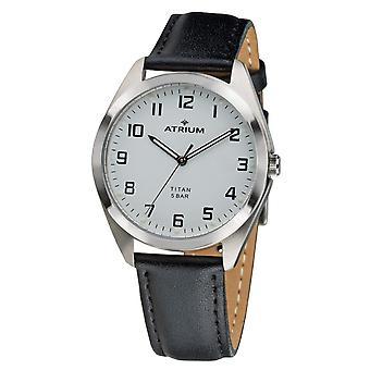 ATRIUM Zegarek damska Zegarek Na rękę Analog Quartz Titanium A15-10 Skóra