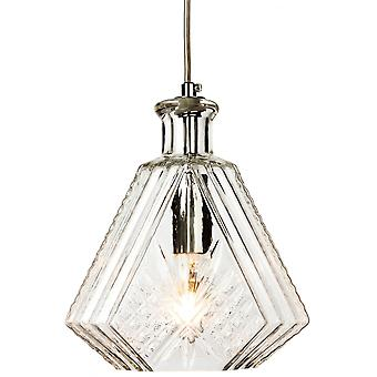 Firstlight Recherché Traditional Antique Chrome Clear Glass Ceiling Lantern