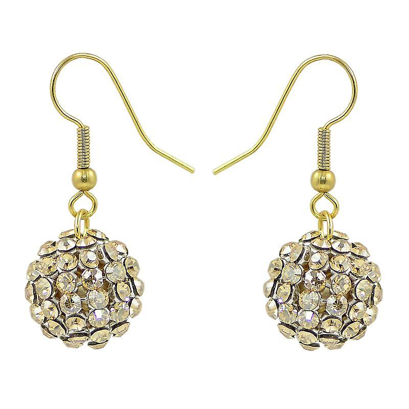 Crystal Mesh Ball Earrings EMB115.7