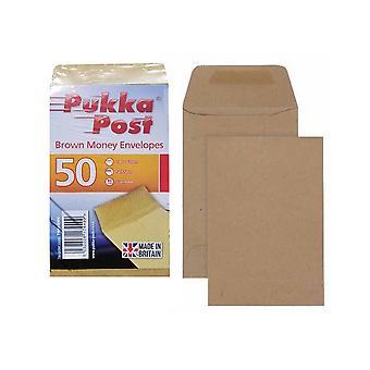 Pukka Post Brown Money Envelopes