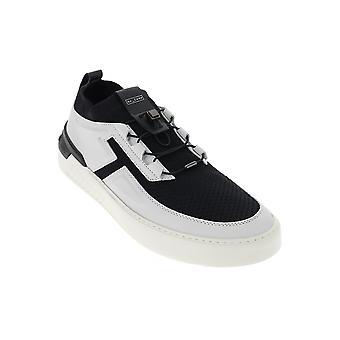 Tod's Xxm14c0cm30nxj0001 Men's White/black Leather Sneakers