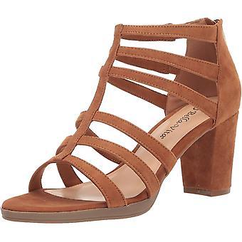 Bella Vita Frauen's Leah Sandal mit Rücken Reißverschluss Schuh, Keks Kidsuede Leathe...