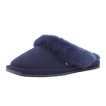 EMU Jolie Luxury Australian Ladies Suede Slippers In Midnight Navy