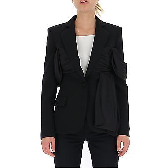 Moschino 05155424a1555 Women's Black Cotton Blazer