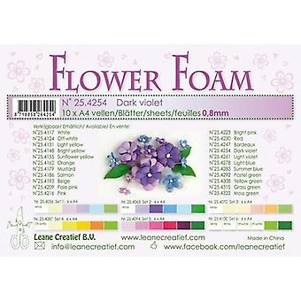 Leane Creatief Flower Foam Sheets A4 Dark Violet