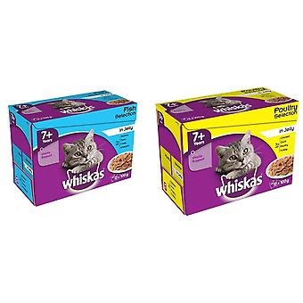 Whiskas Pouch 7+ Selection Jelly Cat Food (4 X 12 Pack Of 100g)